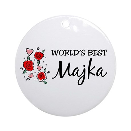 WB Mom [Macedonian] Ornament (Round)