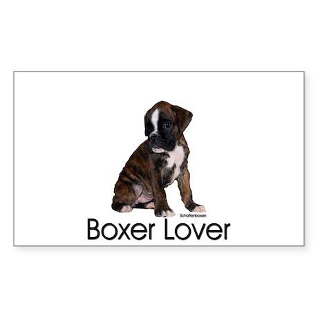 Boxer Puppy Rectangle Sticker
