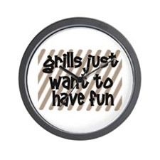 Fun Grills Wall Clock