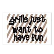 Fun Grills Postcards (Package of 8)