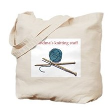 Grandma's Knitting Tote Bag