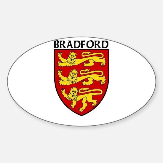 Bradford, England Oval Decal