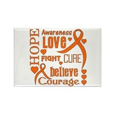 Leukemia Hope Rectangle Magnet