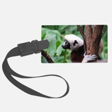 Profile of a Safika Lemur Luggage Tag