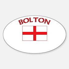 Bolton, England Oval Decal