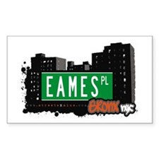 Eames Pl, Bronx, NYC Rectangle Decal