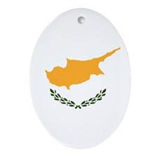 Flag of Cyprus Ornament (Oval)