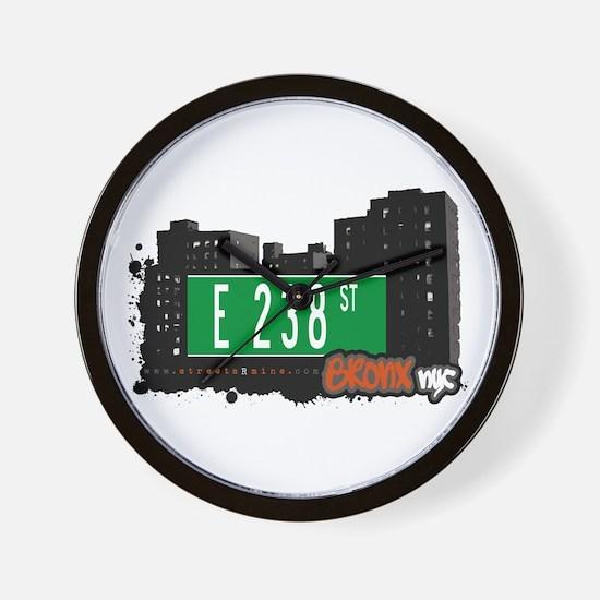 E 238 St, Bronx, NYC Wall Clock
