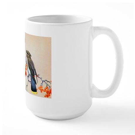 Cedar Waxwing Bird Large Mug