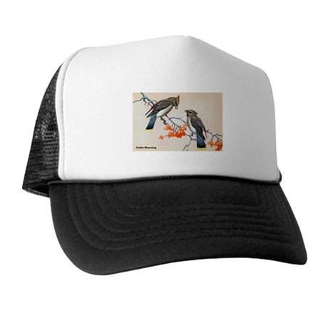 Cedar Waxwing Bird Trucker Hat