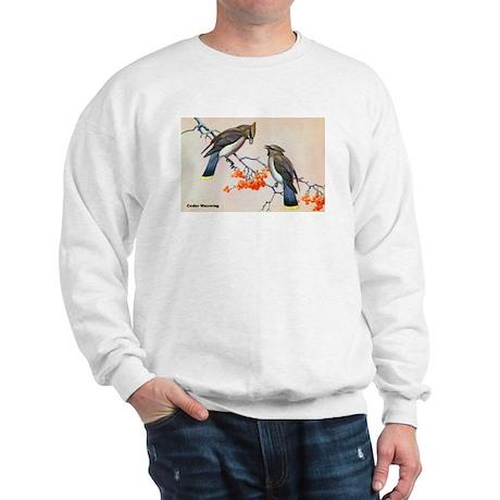 Cedar Waxwing Bird Sweatshirt