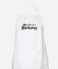 My Wife is a Rockstar BBQ Apron
