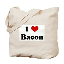 I Love Bacon Tote Bag