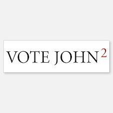 Vote John2, Bumper Bumper Bumper Sticker