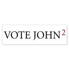 Vote John2, Bumper Bumper Sticker