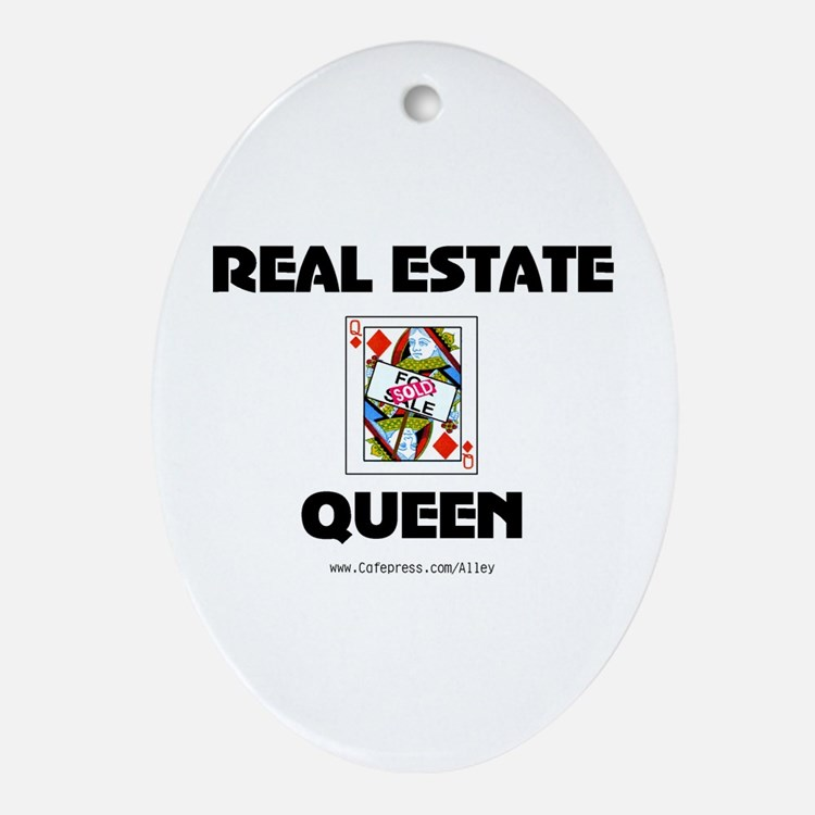 Real Estate Queen Oval Ornament