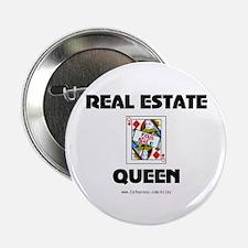 """Real Estate Queen 2.25"""" Button"""