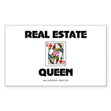 Real Estate Queen Rectangle Decal