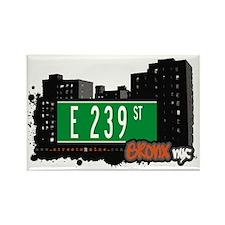 E 239 St, Bronx, NYC Rectangle Magnet