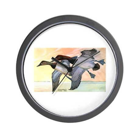 Canvasback Duck Wall Clock