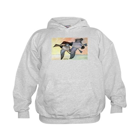 Canvasback Duck (Front) Kids Hoodie