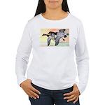Canvasback Duck (Front) Women's Long Sleeve T-Shir