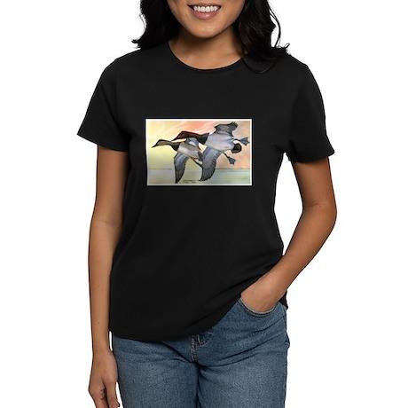Canvasback Duck (Front) Women's Dark T-Shirt