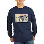 Canvasback Duck (Front) Long Sleeve Dark T-Shirt
