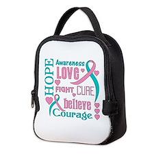 Hereditary Breast Cancer Hope Neoprene Lunch Bag