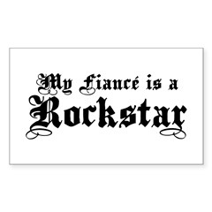My Fiance is a Rockstar Rectangle Decal