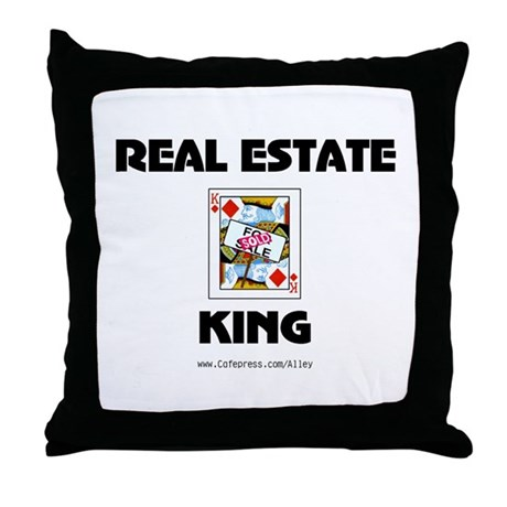 Real Estate King Throw Pillow