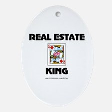 Real Estate King Oval Ornament