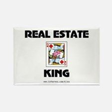 Real Estate King Rectangle Magnet