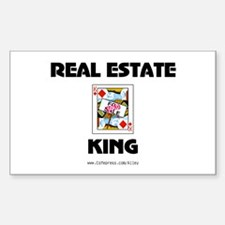 Real Estate King Rectangle Decal