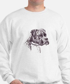 Boxer Dog Portrait Sweatshirt