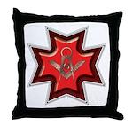 The Maltese Mason Throw Pillow