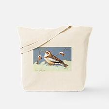 Eastern Snow Bunting Bird Tote Bag