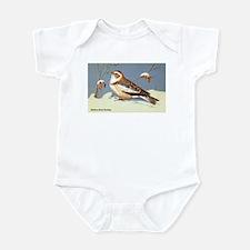 Eastern Snow Bunting Bird Infant Bodysuit