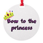 Bow to the princess Ornament