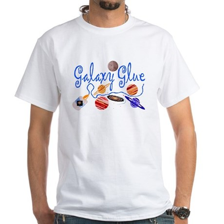 galaxy glue White T-Shirt