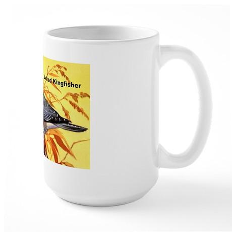 Belted Kingfisher Bird Large Mug
