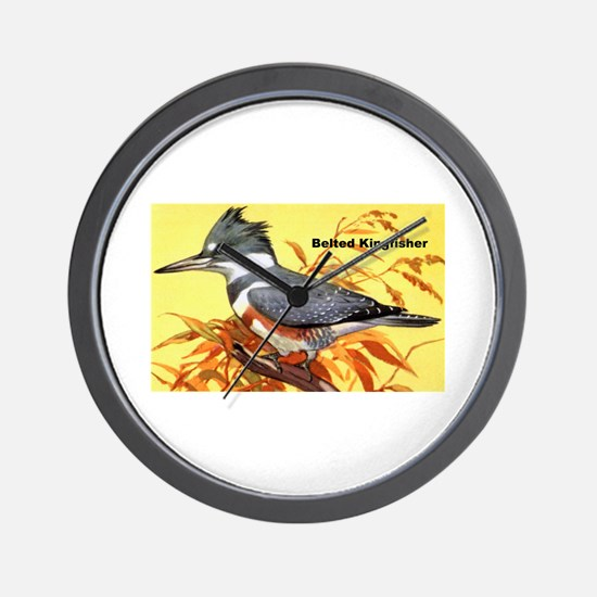 Belted Kingfisher Bird Wall Clock