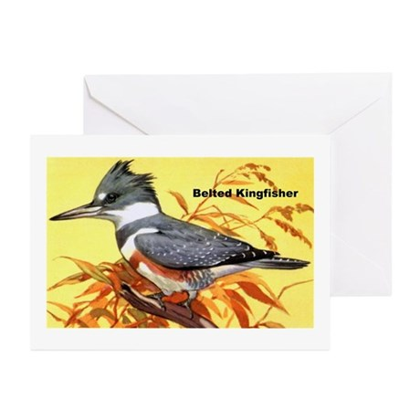 Belted Kingfisher Bird Greeting Cards (Package of
