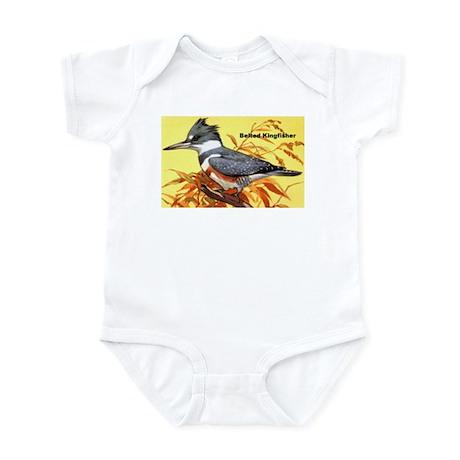 Belted Kingfisher Bird Infant Bodysuit