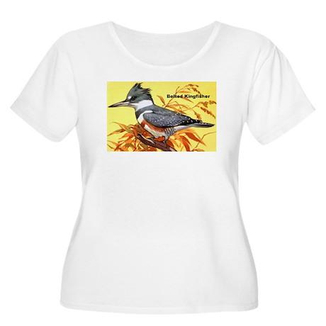 Belted Kingfisher Bird Women's Plus Size Scoop Nec