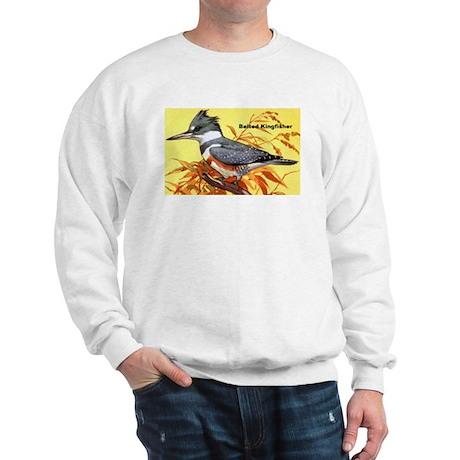 Belted Kingfisher Bird Sweatshirt