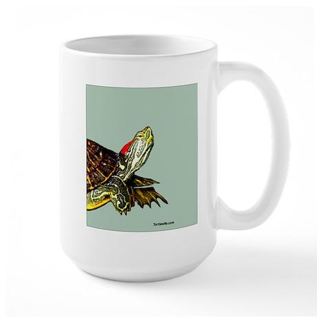 Sassy Red Eared Slider Turtle Large Mug