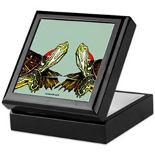 Sassy Red Eared Slider Turtle Keepsake Box