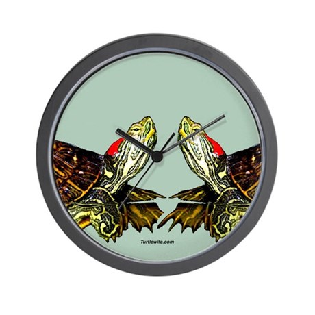 Sassy Red Eared Slider Turtle Wall Clock