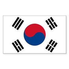 South Korea Flag Rectangle Decal